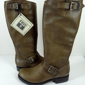 FRYE Veronica Tall Slouch Boots Brown 8.5B